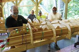 Larry teaching canoe class