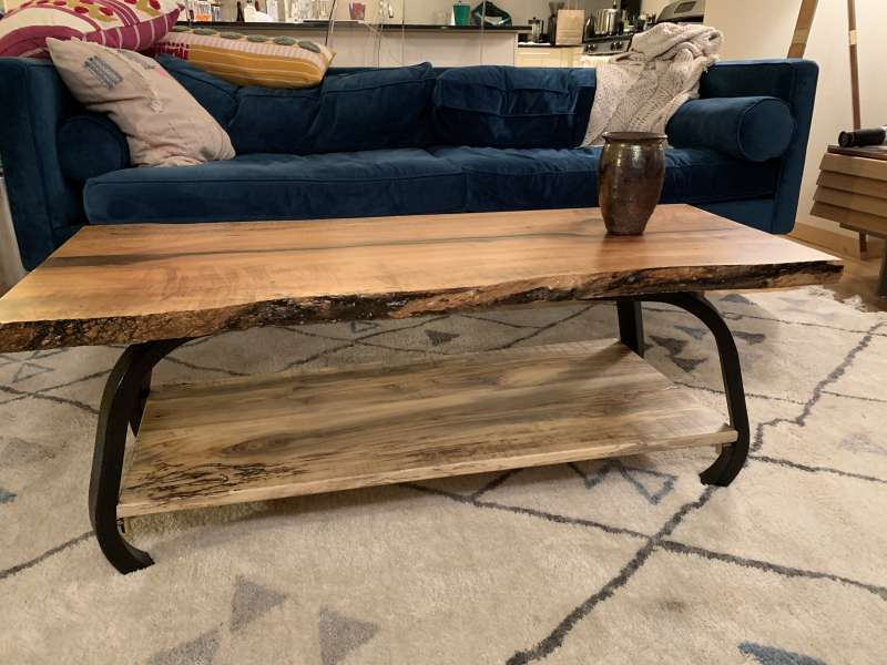 Coffee Table with Shelf by Larry Benjamin