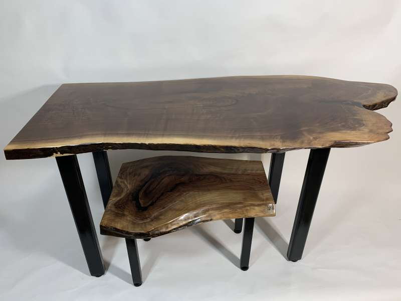 Larry Benjamin handcrafted desk and stool